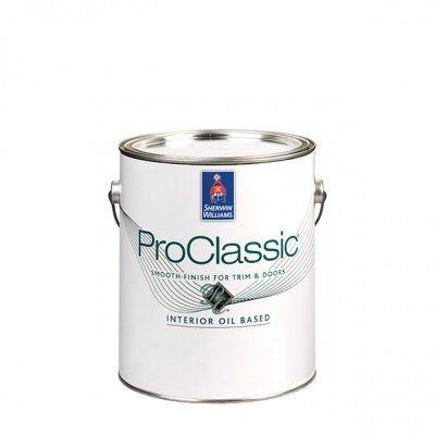 Эмаль для лепнины и дерева Sherwin Williams PROCLASSIC ALKYD SATIN (кварта 0,95 л), США