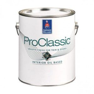 Эмаль для лепнины и дерева Sherwin Williams PROCLASSIC ALKYD SATIN (галлон 3,8 л), США
