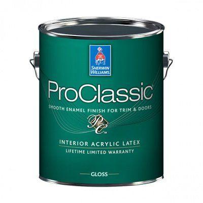 Эмаль для лепнины и дерева Sherwin Williams PROCLASSIC INTERIOR SATIN (галлон 3,8 л), США