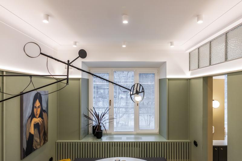 Кухня-гостиная с мозаикой Джо Понти